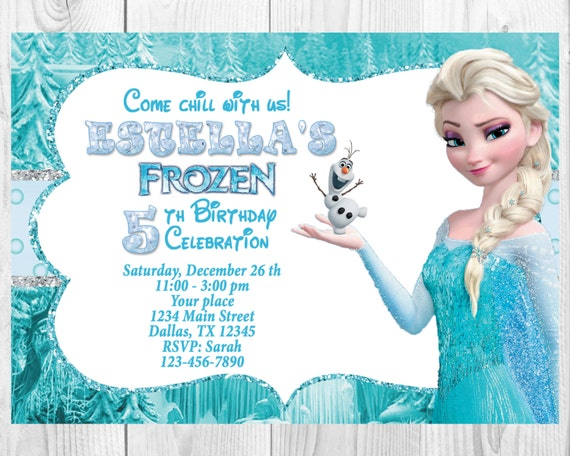 photograph about Printable Frozen Birthday Card titled Frozen Birthday Invitation - Elsa Frozen Invitation, Printable Frozen Invitation,Elsa Invitation Frozen Social gathering Programs Invitations Snow Queen,WS032