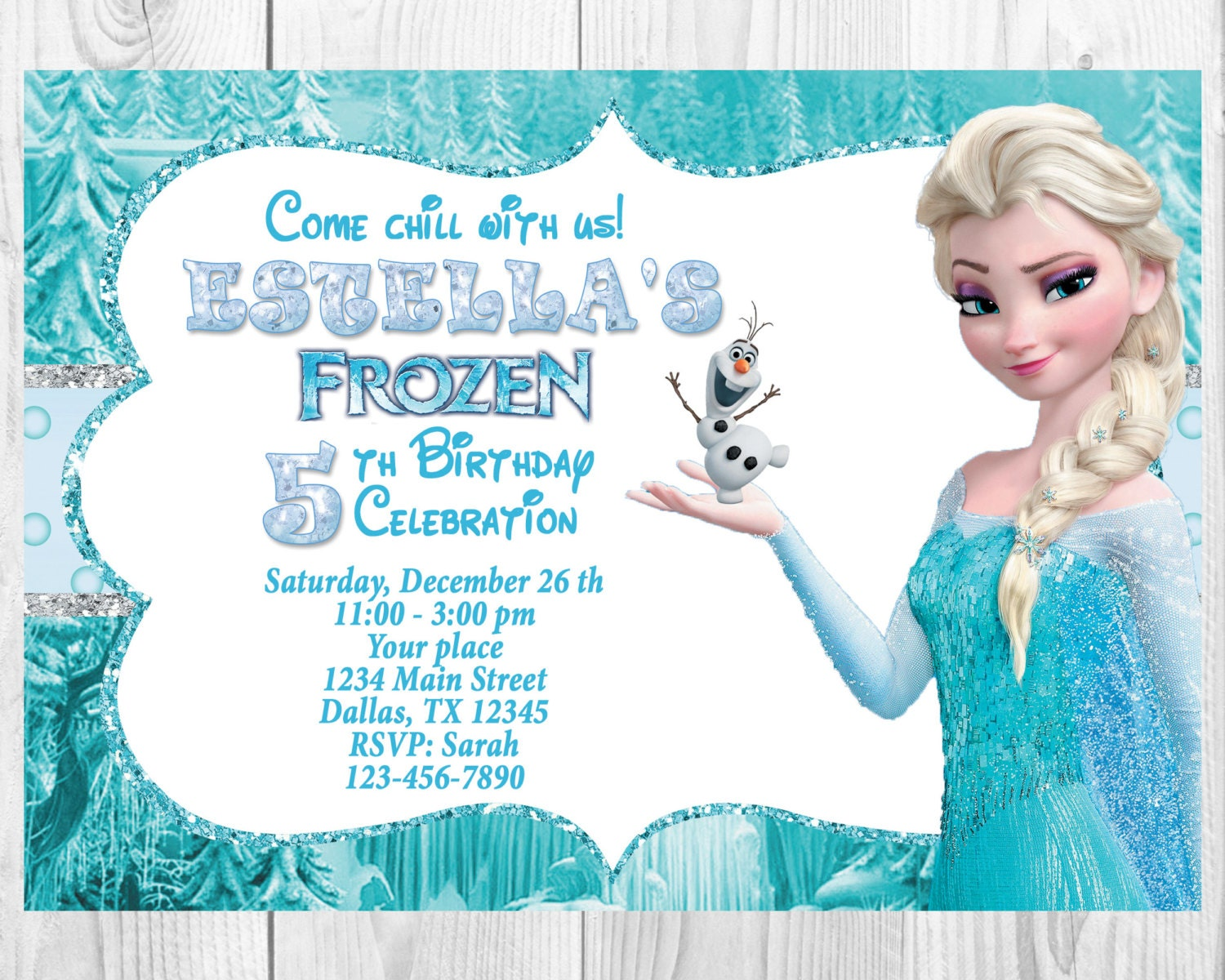 Frozen Birthday Invitation Elsa Frozen Invitation Printable | Etsy