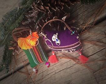 Andean Textile keychain, Ethnic Textile keychain, Hippie Keychain,