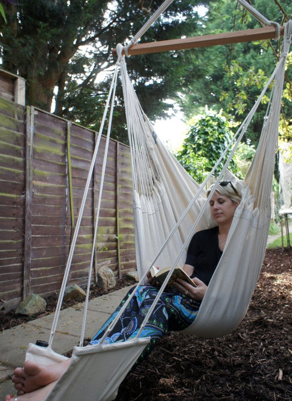 Hanging Hammock Chair With Footrest Etsy