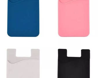 more colors silicone cell phone pocket credit card holder - Custom Adhesive Cell Phone Card Holder