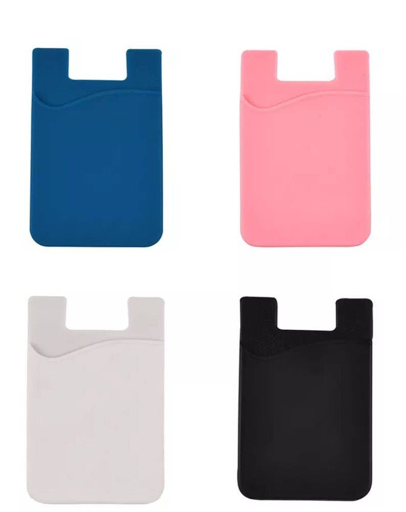 innovative design 356ac 867f8 Silicone cell phone pocket, credit card holder