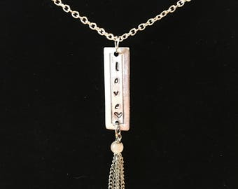 Love pendant with chain tassel