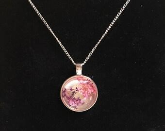 Pink/Purple Flower Pendant