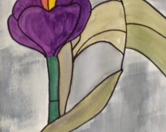 Stained Glass Lily II