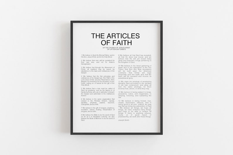picture relating to Articles of Faith Printable known as The Written content of Religion Printable // Immediate Obtain // 5 Measurements // Printing Companies Offered // LDS Prints // Revolutionary Material of Religion