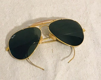 b846541bff Vintage Ray Ban Bausch   Lomb aviator sunglasses 58 14