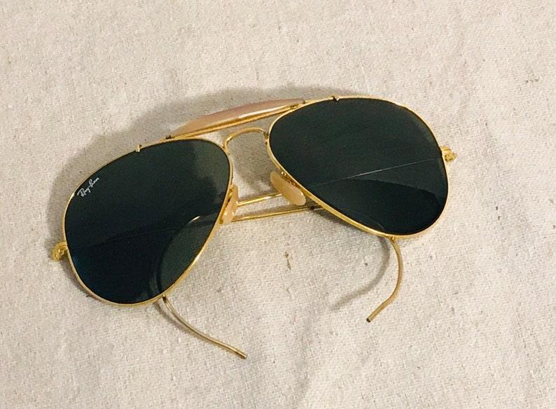 9f600ad532c4 Vintage Ray Ban Bausch   Lomb aviator sunglasses 58 14