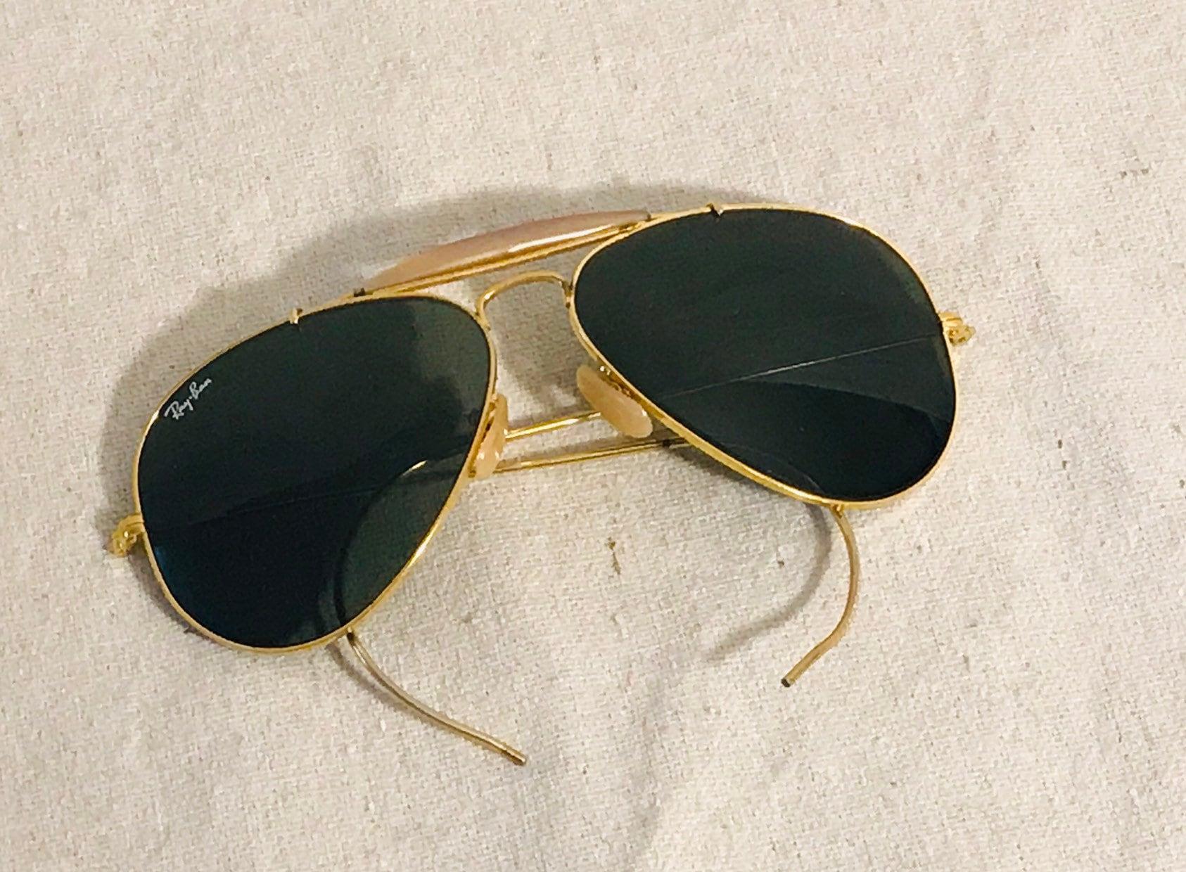 4a6c7a77b2 Vintage Ray Ban Bausch   Lomb aviator sunglasses 58 14