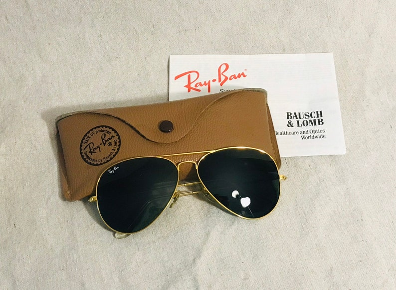 f9707d003683 Vintage Ray Ban Bausch   Lomb Aviator Sunglasses L2846 with