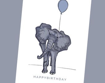 HAPPY BIRTHDAY - Elephant