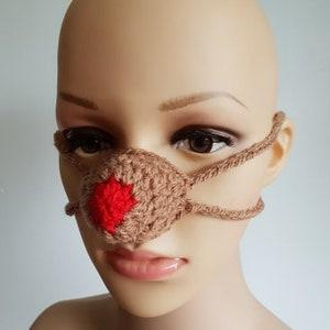 Reindeer Nose Warmer Nose Mitten RUDOLF Nose Warmer Nose Cozy Christmas Gifts Crochet Nose Warmer Secret Santa Gift Red Nose Warmer