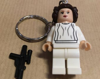 Princess Leia Star Wars Mini Figure Keyring Key chain Handmade
