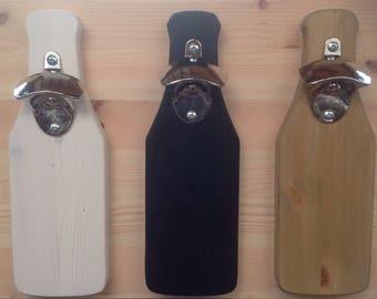 Handmade wall mounted bottle opener