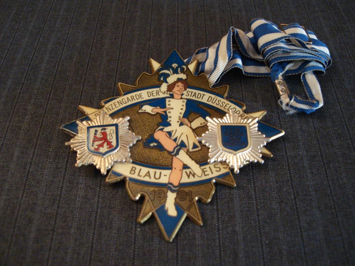 Blau-Weiss, Prinzengarde Dusseldorf, German Club Medal [Vintage]