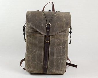Waxed Canvas backpack, 15l Day pack
