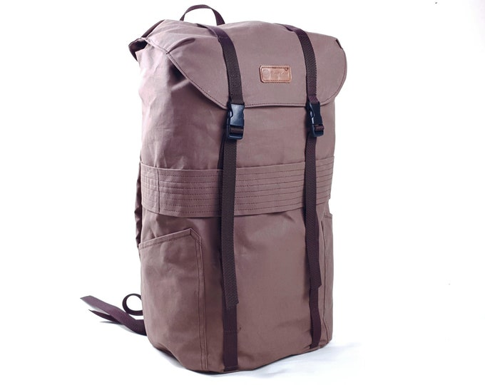 Dry Waxed Canvas Backpack 23l .