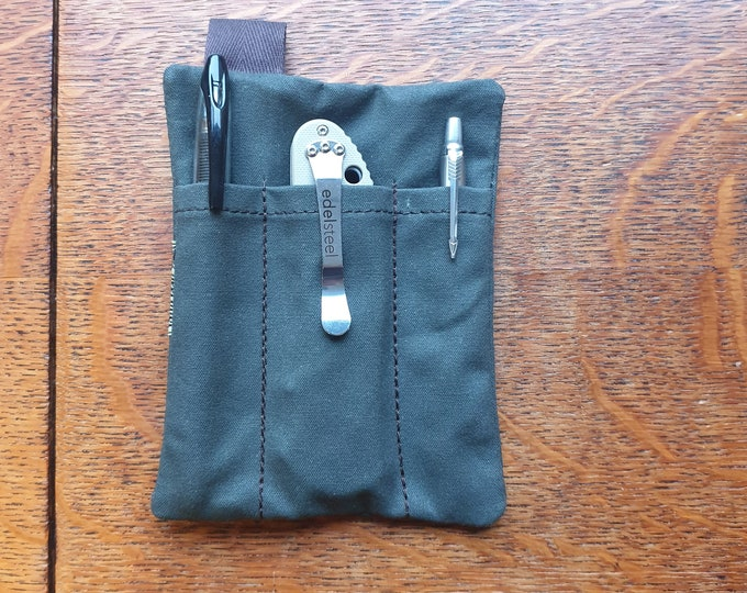 The Grand, EDC Pouch card pen & knife pocket slip organizer