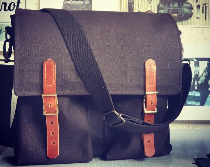 The Enodia, Messenger bag, crossbody large bag, Canvas shoulder bag