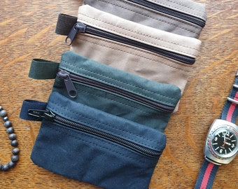 EDC wallet, pocket knife case, purse for your payment cards, money a thin flashlight and a pen