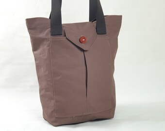 Women's canvas tote bag Small tote bag canvas purse Women's tote Carryall Shopper Women's gift Birthday gift  with wooden button closing