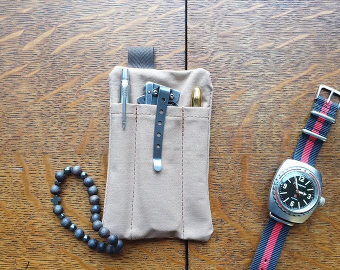 Pocket slip organizer, pen pouch, pencil and cards wallet