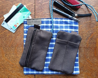 EDC Canvas Pouch/ card pen & knife pocket slip