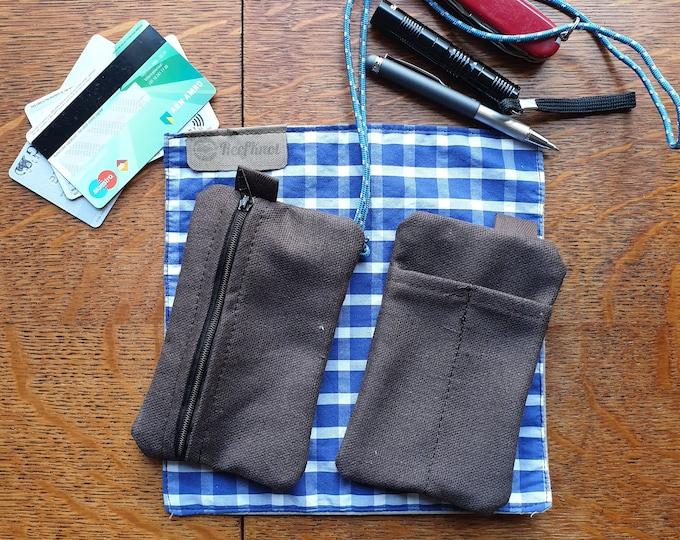 EDC Canvas Pouch/ card pen & knife pocket slip