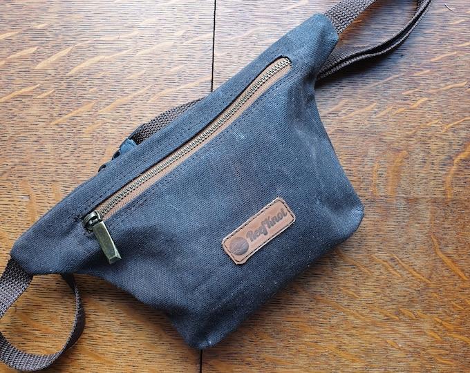 Waxed Canvas hip bag, EDC  Bum bag / Fanny pack brown