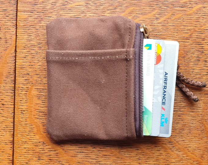 Men's canvas wallet, Slim wallet EDC