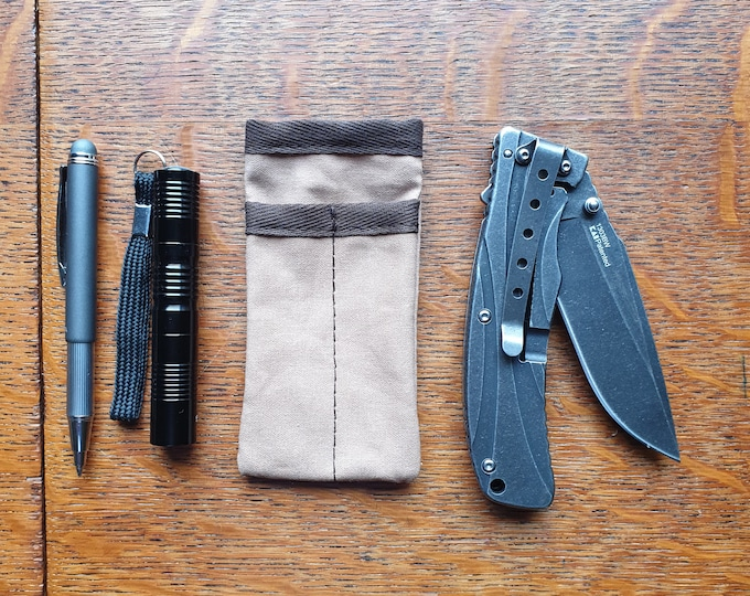 The slender EDC Pocket Organize Canvas Pouch