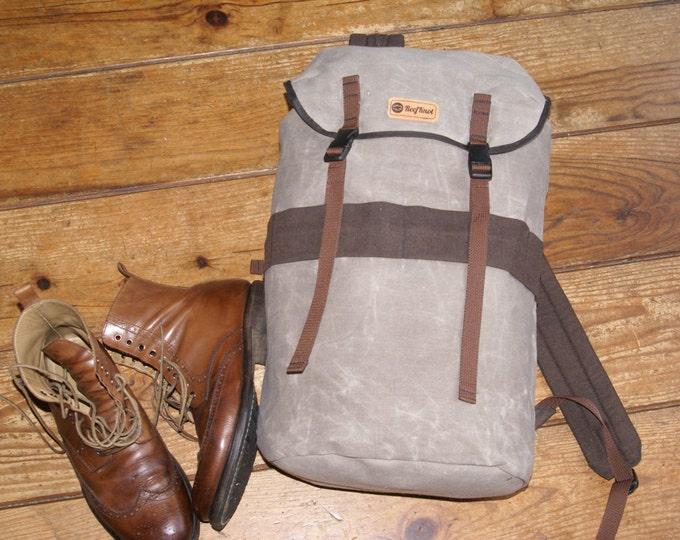 Bushcraft backpack, Day Pack, Cotton Canvas Rucksack 20l