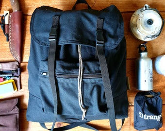 Retro Design Canvas Backpack 18L  Classic bag ready to ship.