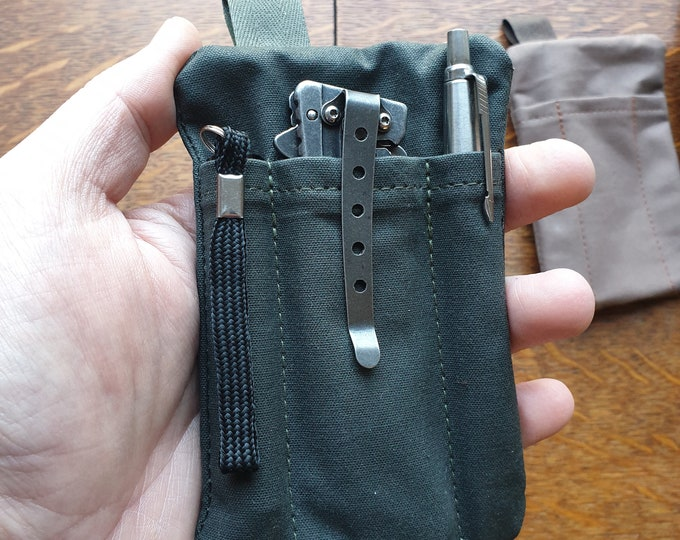 Wallet for knife, pen, flashlight and cards. The Companion pocket Organizer / EDC