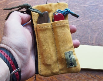 """Every day case organizer """"The Mechanic"""" , Waxed canvas wallet with tool compartments on both sides"""