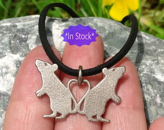 RTS, 3d printed rat necklace, rat lover gift, pet memorial, silver steel