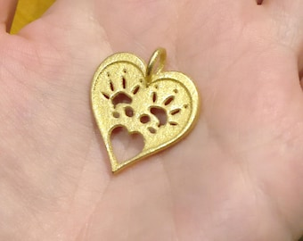 Rat necklace, pet paw print jewellery, 3d printed gold steel, ready to ship