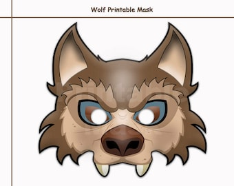 Modest image throughout printable wolf masks