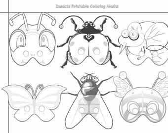 Print Coloring Mask Etsy
