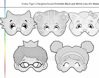 Tiger printable mask | Etsy