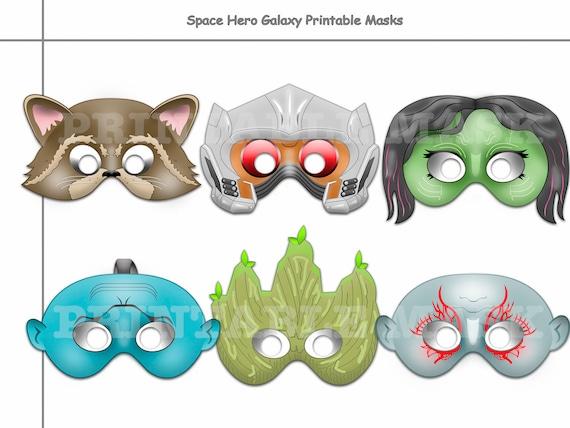 Unique Space Hero Printable Masks Guardians Masks Birthday Etsy