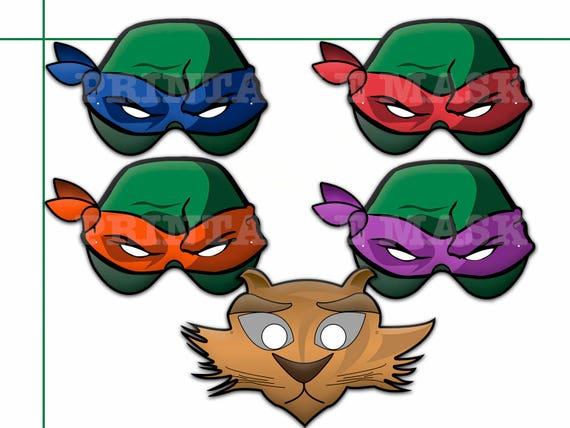 This is an image of Ninja Turtle Printable Mask inside color