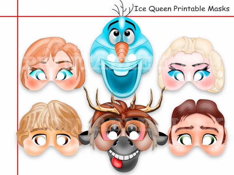 Unique Ice Queen Printable Masks Diy Paper Mask Kids Etsy