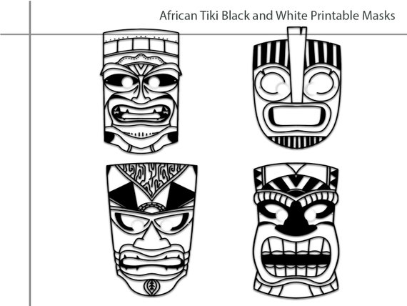 Tiki Face coloring page | Free Printable Coloring Pages | 428x570