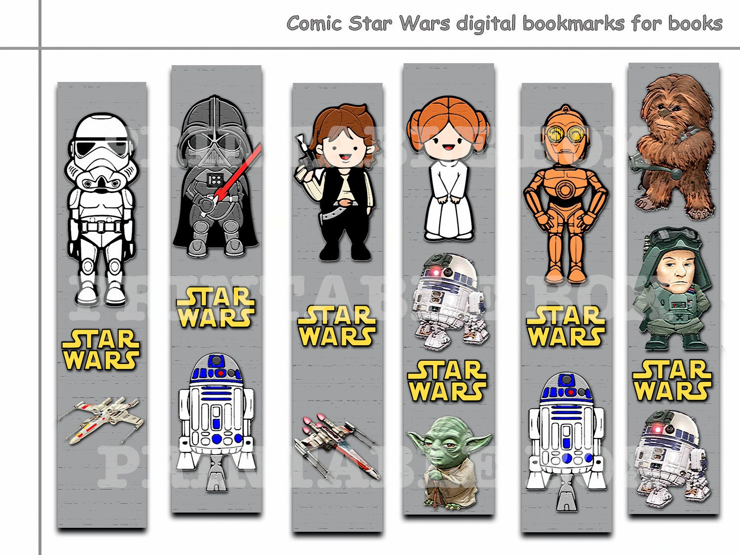 image about Star Wars Bookmarks Printable named Appealing Electronic Comedian Star Wars bookmarks for e-book, Printable bookmark, guide equipment, paper bookmarks, Comedian Star Wars