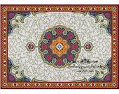 Vintage Carpet 23 Cross Stitch Pattern PDF Antique Dollhouse Miniature Rug Berlin woolwork pattern Tapestry Needlepoint