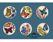 6 Butterflies SET Cross Stitch Pattern PDF Magnets cross stitch Animal Bead Vintage Needlepoint chart