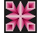Optical illusion Mandala 1 Cross Stitch Pattern PDF Geometric Abstraction Modern cross stitch Pillow Vintage Pattern Ornament Cross Stitch