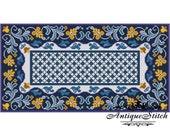 Vintage Carpet 9 Cross Stitch Pattern PDF Antique Dollhouse Miniature Rug