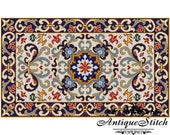 Vintage Carpet 14 Cross Stitch Pattern PDF Antique Dollhouse Miniature Rug